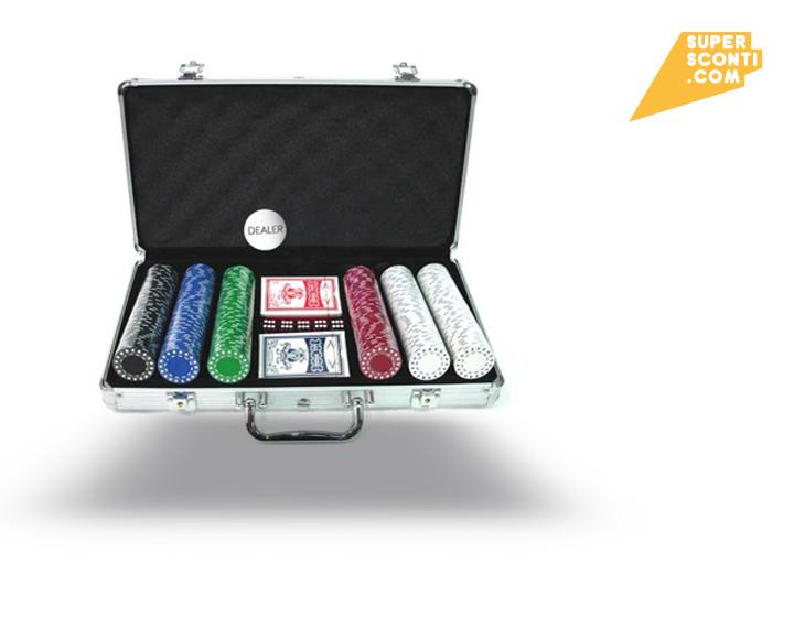 SET KIT 300 FICHES LASER CLAY CHIPS POKER CARTE SPORT E TEMPO LIBERO SUPER SCONTI SUPERSCONTI