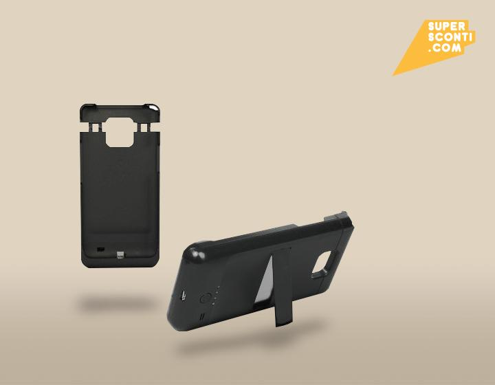 Cover Battery per Samsung Galaxy S2 2200 mah supersconti super sconti elettronica