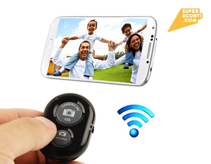 Telecomando Per Fotocamere Videocamere Cellulari Con Scatto Remoto Bluetooth elettronica accessori audio video super sconti supersconti