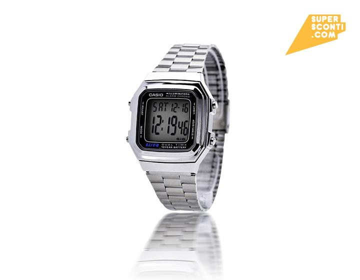 Casio A178-WGA-1ADF Gold e silver fashion orologi super sconti supersconti