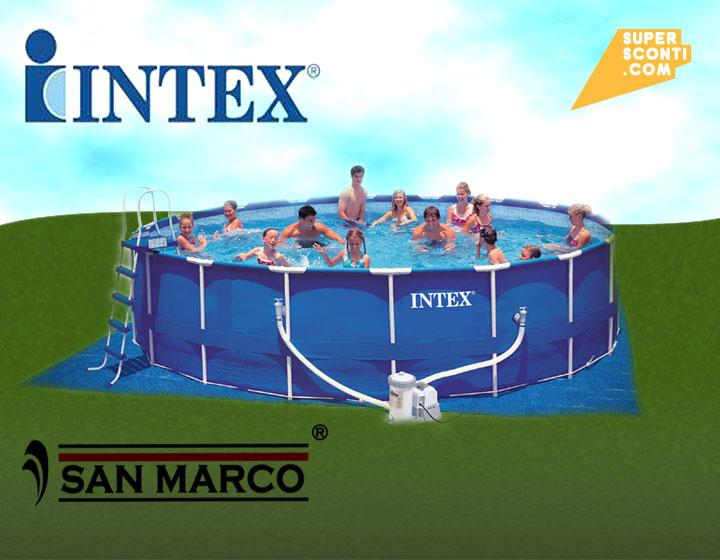 piscina outdoor  intex 549x122 casa e arredo interni ed esterni sport e tempo libero supersconti super sconti