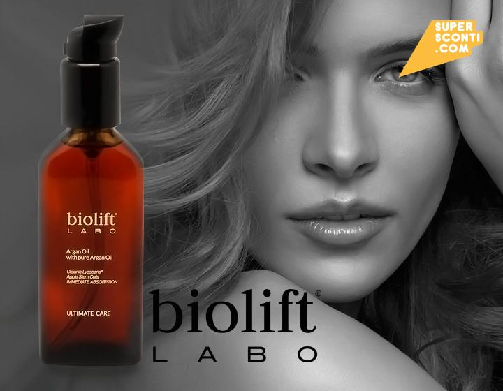 Biolift Labo Argan oil 100ml health & beauty cura viso corpo super sconti supersconti