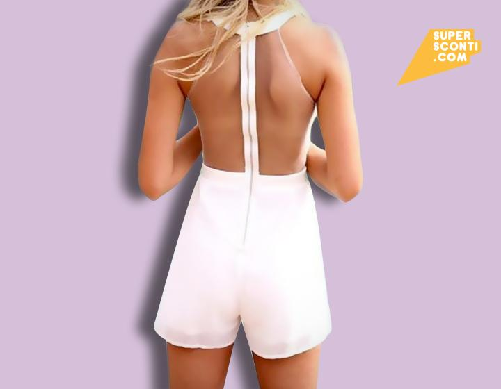 Tuta donna White fashion abbigliamento supersconti super sconti